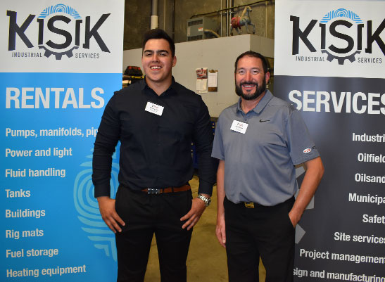 Dakota Dow (Kisik Industrial) and Allan Klyne (Ketek Group) Fort McMurray