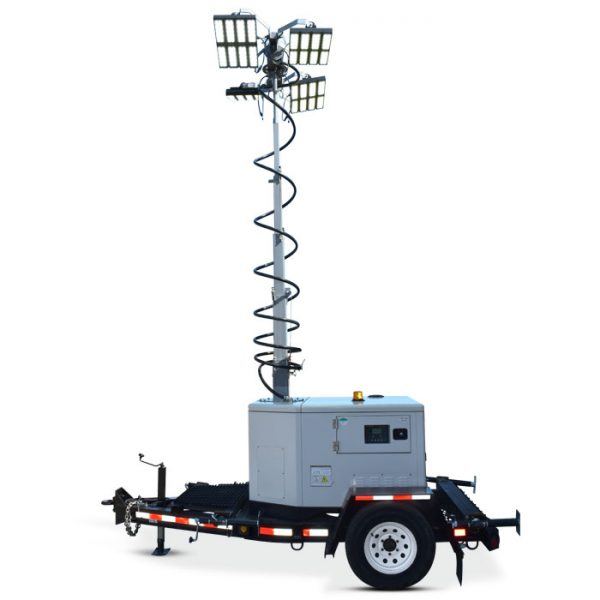 Rental LED Light Tower, supported 24/7/365