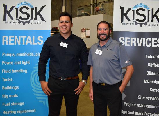 Dakota Dow (Kisik Industrial) and Allan Klyne (Ketek Group) Fort McMurray