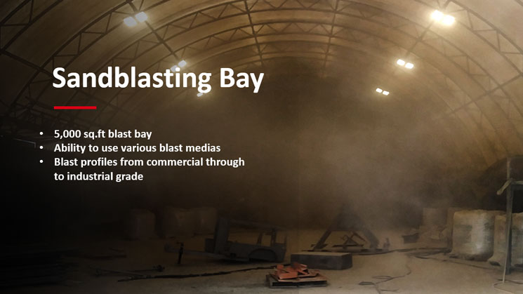 Sandblasting shop - Ketek - Custom Fabrication