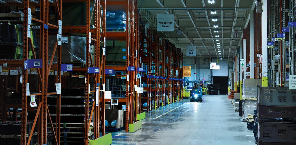 Warehouse smart LEDs lights